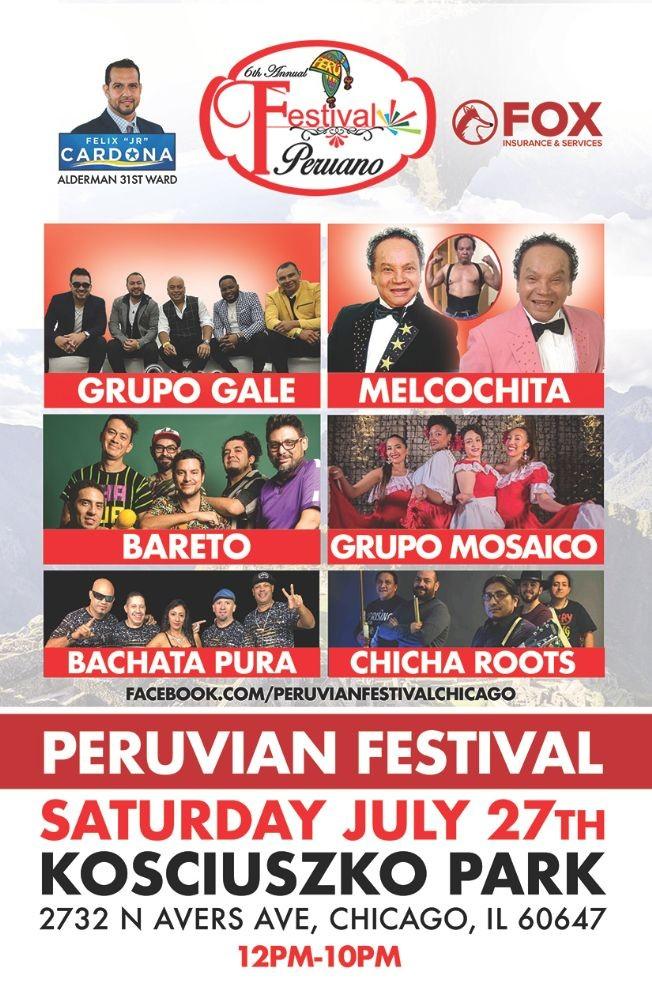 Flyer for Peruvian Festival in Chicago,IL