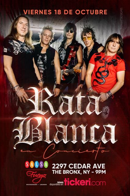 Flyer for RATA BLANCA EN THE BRONX