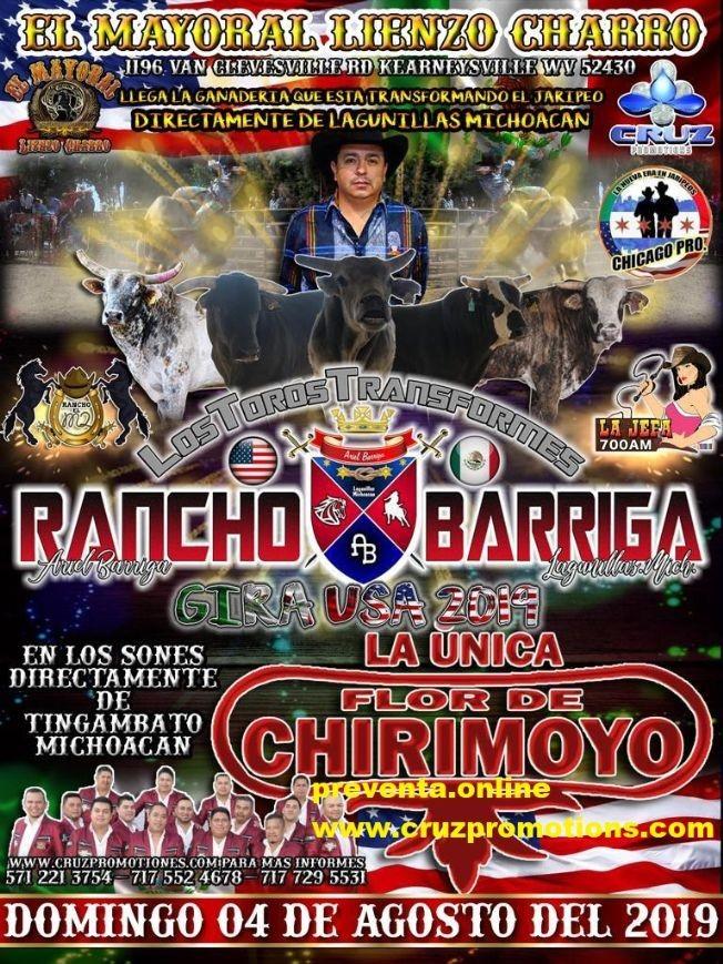 Flyer for jaripeo baile 4 de agosto 2019