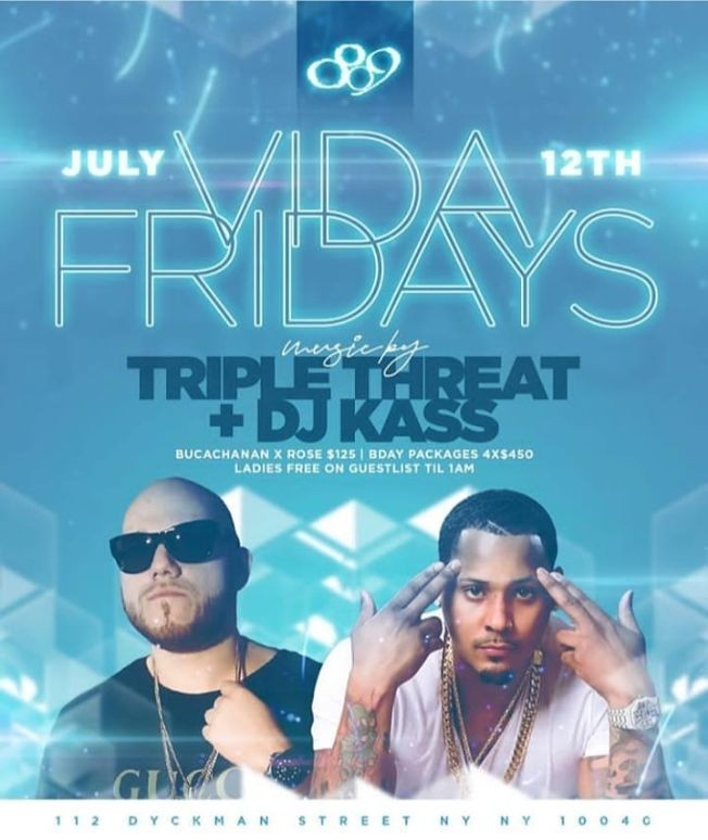 Flyer for Vida Fridays DJ Kass Live At 809 Lounge
