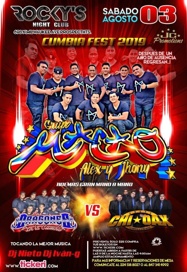 Flyer for CUMBIA FEST 2019 !!!!!!GRUPO MACAO!!!!!!