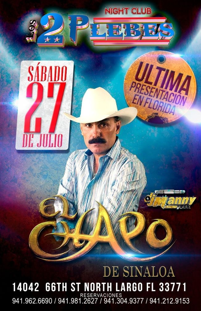 Flyer for El Chapo De SInaloa