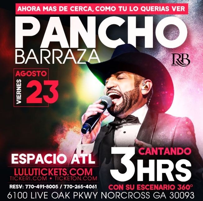 Flyer for PANCHO BARRAZA