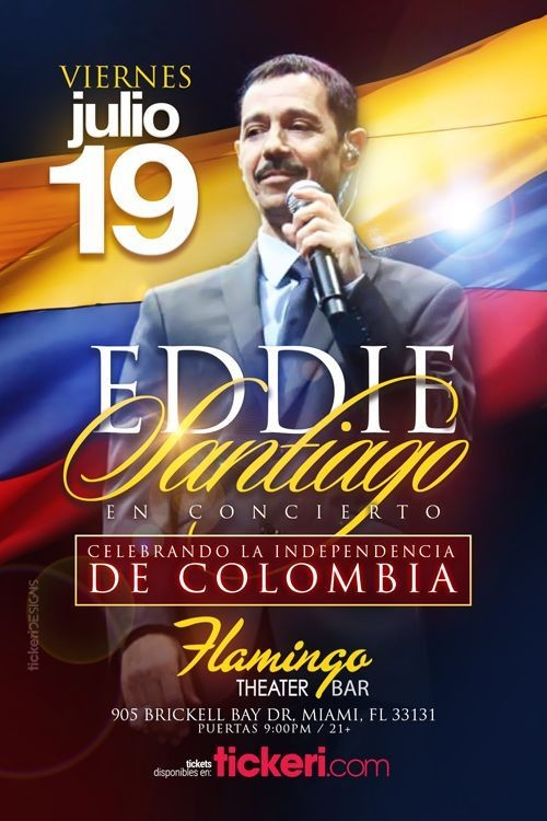 Flyer for EDDIE SANTIAGO EN MIAMI