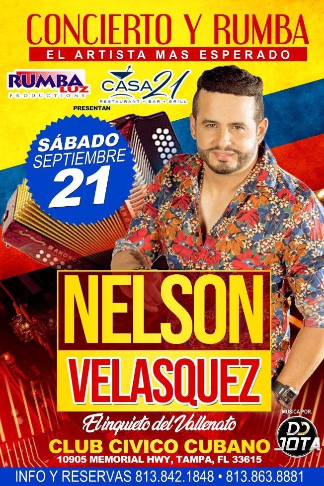 Flyer for Nelson Velasquez En Tampa,FL