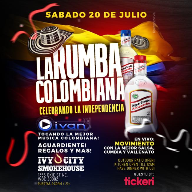 Flyer for La Rumba Colombiana