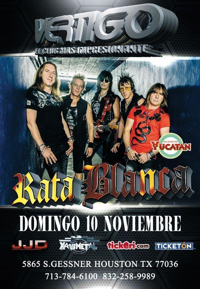 Flyer for Rata Blanca En Concierto En Houston,TX