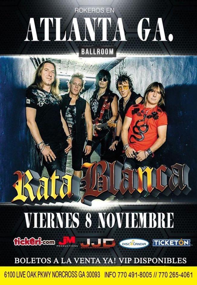 Flyer for Rata Blanca En Concierto En Atlanta,GA