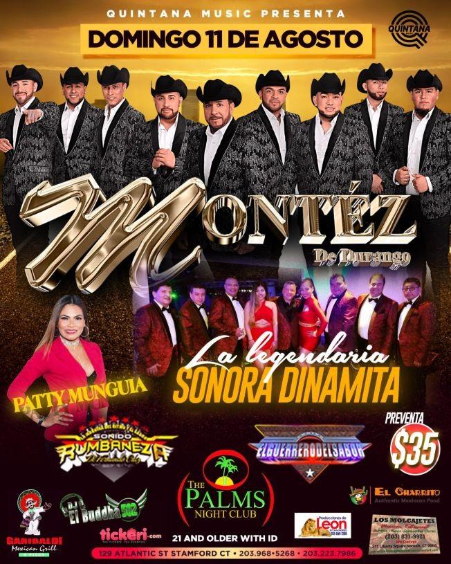 Flyer for Montez De Durango y Sonora Dinamita En Stamford,CT