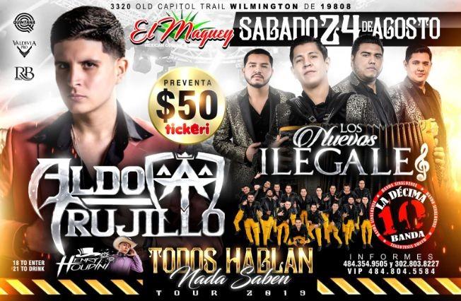 Flyer for ALDO TRUJILLO - LOS NUEVOS ILEGALES - LA DÉCIMA BANDA!