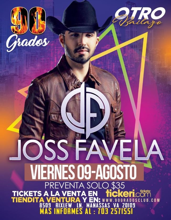 Flyer for Joss Favela En Manassas,VA