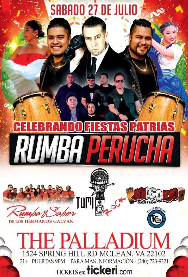 Flyer for Rumba Perucha! @ The Palladium