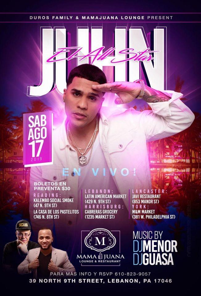 Flyer for JUHN EL ALL STAR