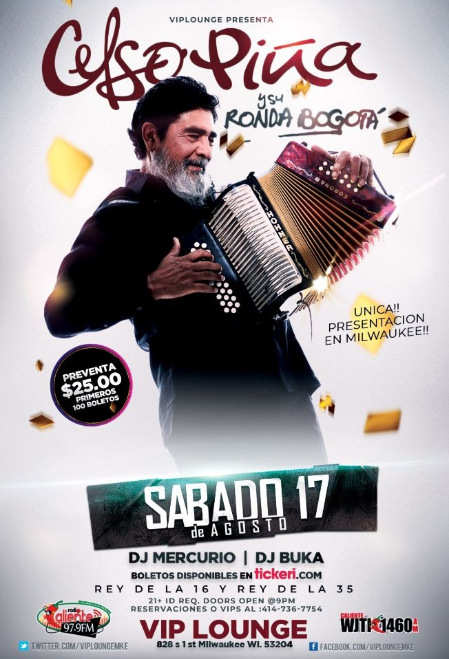 Flyer for Celso Pina en Milwaukee,WI