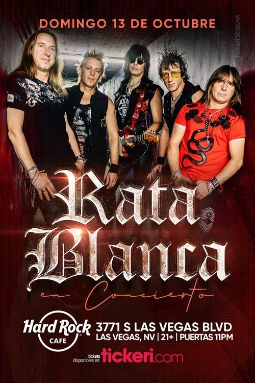 Flyer for RATA BLANCA EN LAS VEGAS