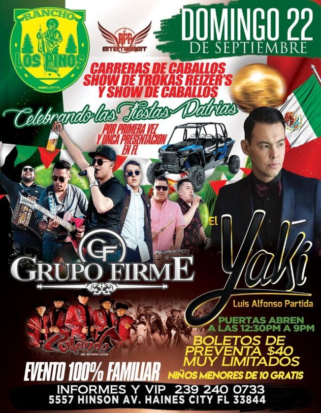 Flyer for GRUPO FIRME & EL YAKI