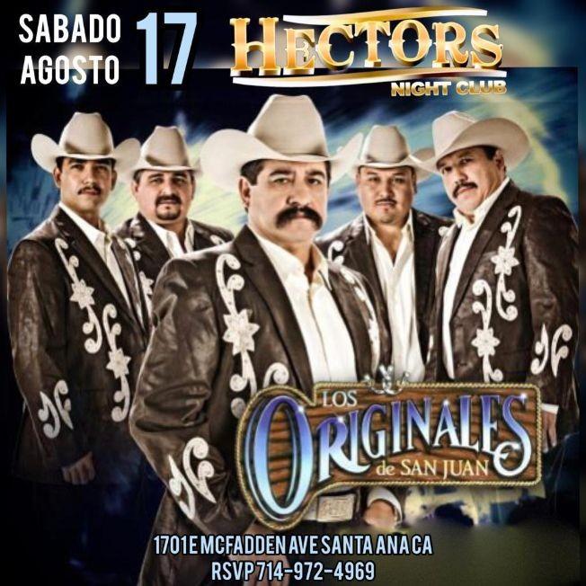 Flyer for Los Originales de San Juan en Santa Ana,CA