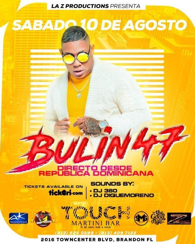 Flyer for Bulin 47 en Concierto en Brandon, FL