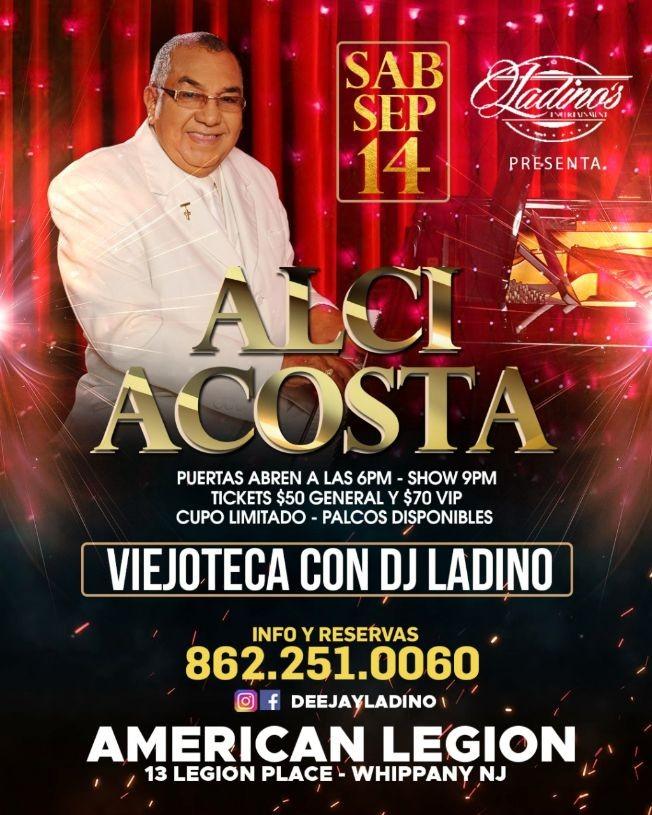 Flyer for Alci Acosta