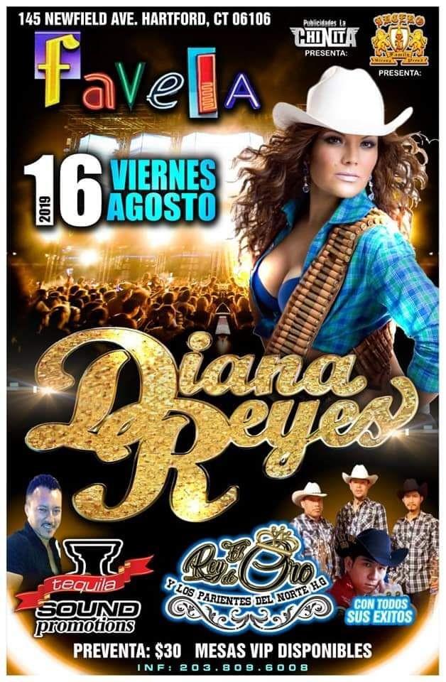 Flyer for Diana Reyes En Concierto En Hartford,CT