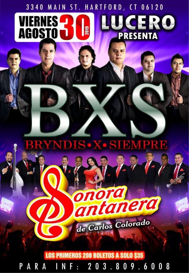 Flyer for BXS Bryndis X Siempre y Sonora Santanera En Hartford,CT