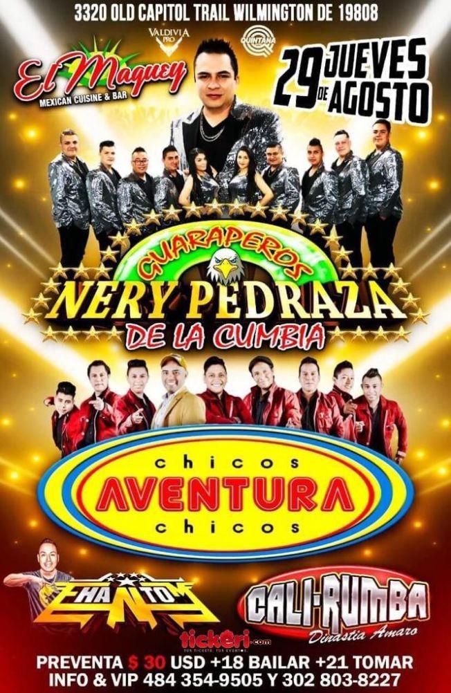 Flyer for NERY PEDRAZA Y LOS CHICOS AVENTURA