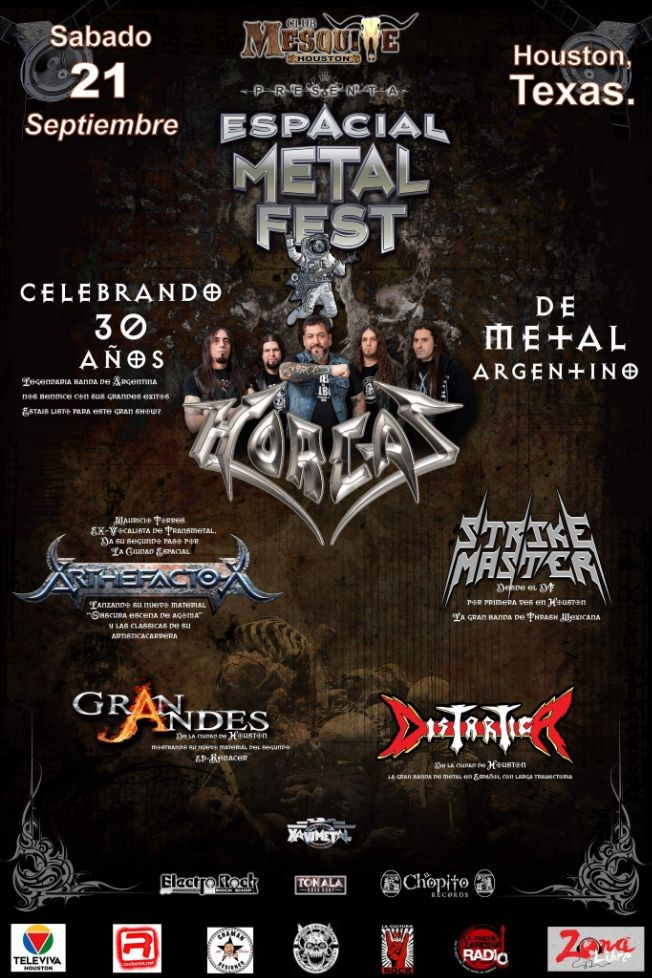 Flyer for ESPACIAL METAL FEST