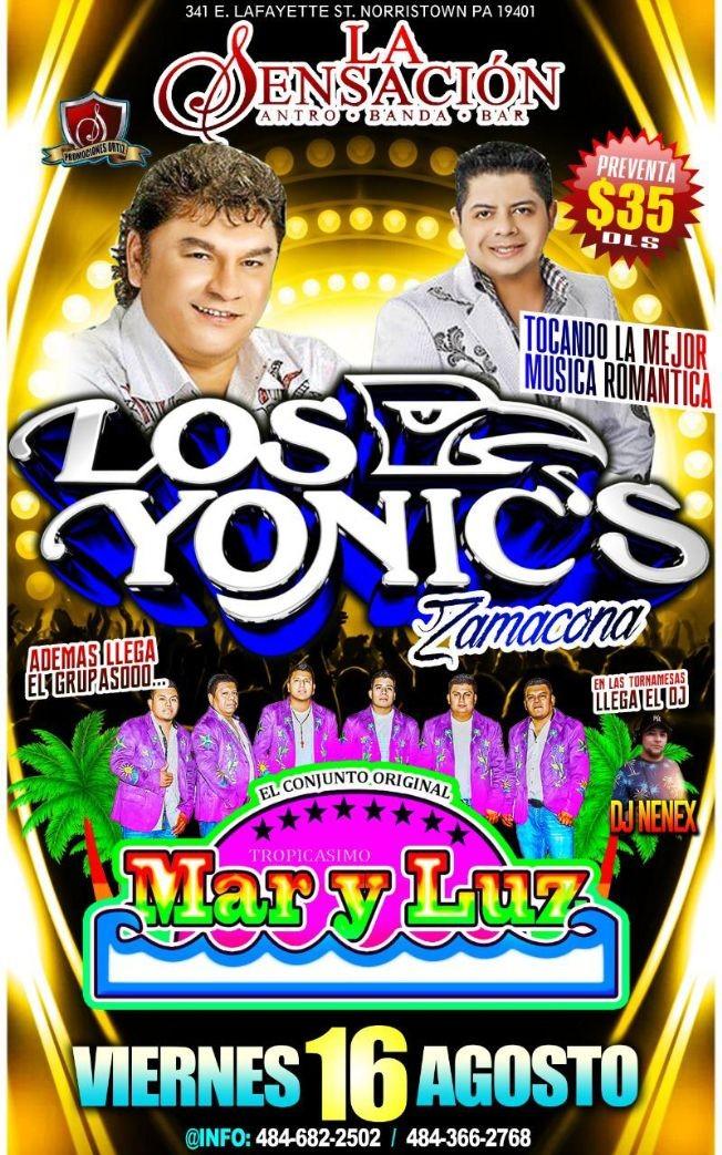 Flyer for LOS YONIC'S & MAR Y LUZ