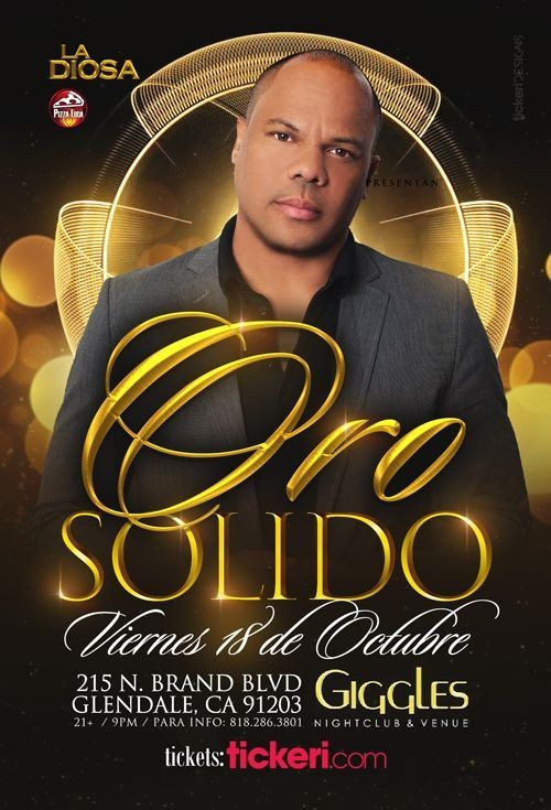 Flyer for ORO SOLIDO EN LOS ANGELES