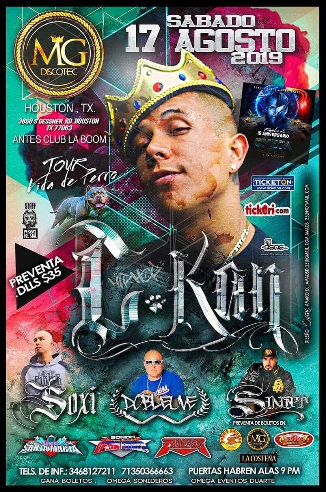 Flyer for C Kan  Tour Vida de Perro En Concierto En Houston,TX