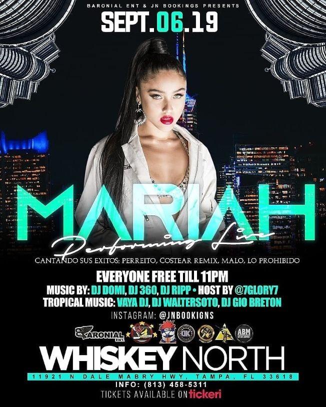 Flyer for Mariah en Tampa, FL