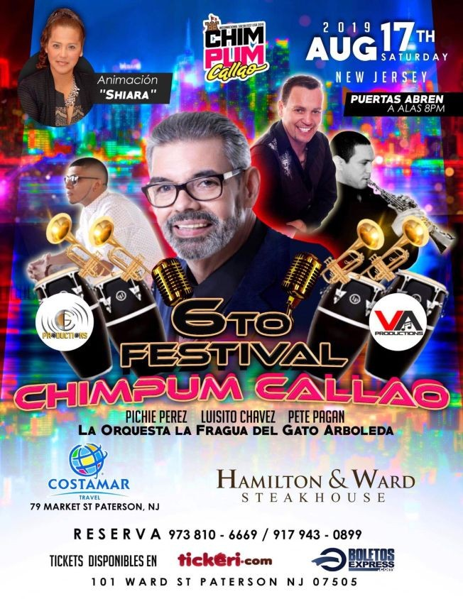 Flyer for 6To Festival Chimpum Callao En Paterson, NJ