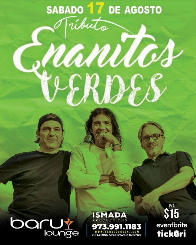 Flyer for ENANITOS VERDES Tributo
