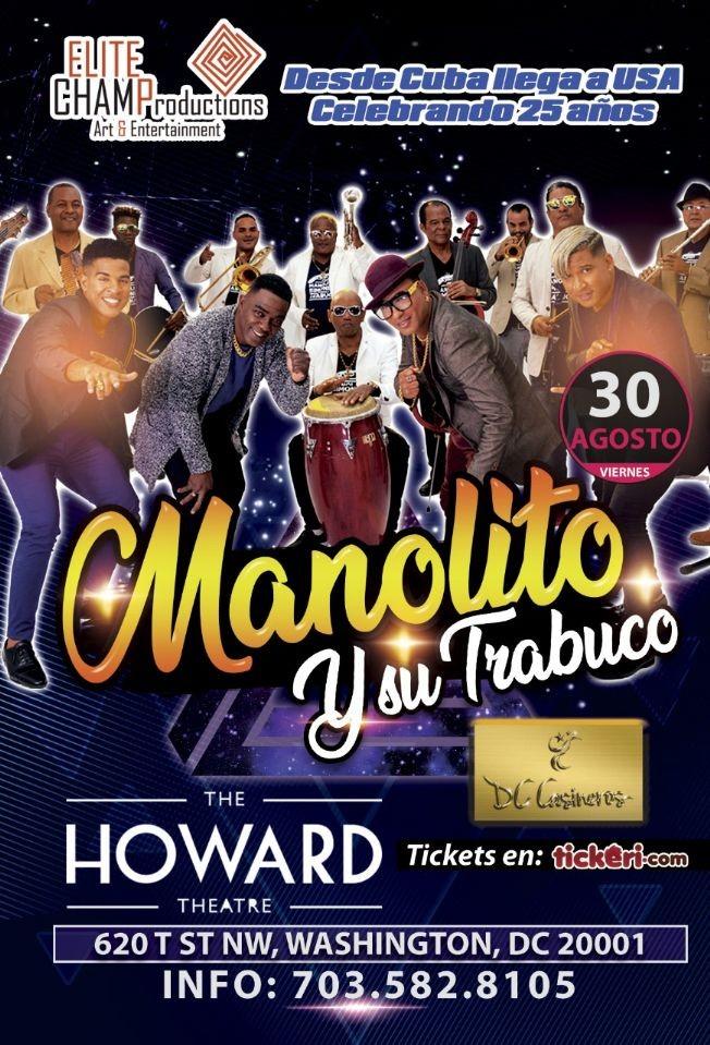 Flyer for Manolito y Su Trabuco