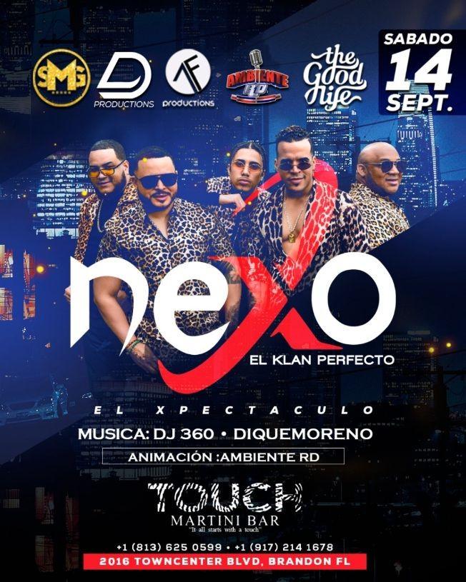 """Flyer for Grupo tipico """"Nexo El clan perfecto"""" En concierto"""