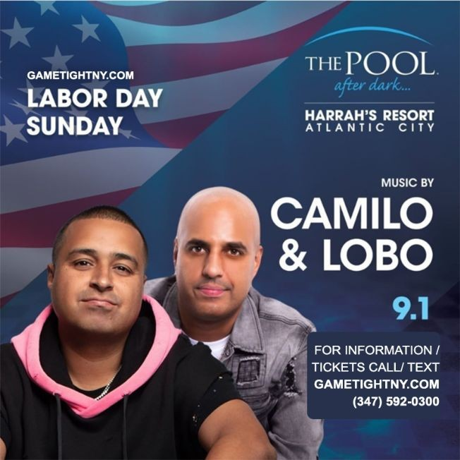 Flyer for Memorial Day Weekend Atlantic City Harrahs Pool Party 2019