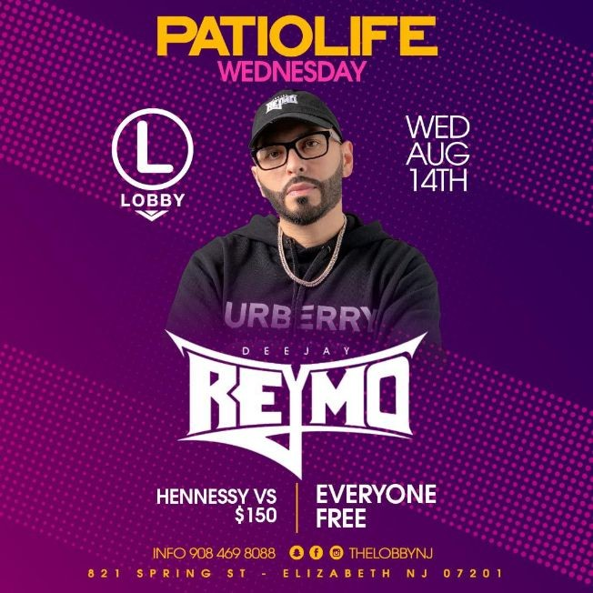 Flyer for Patio Life Wednesdays Season 2 At The Lobby