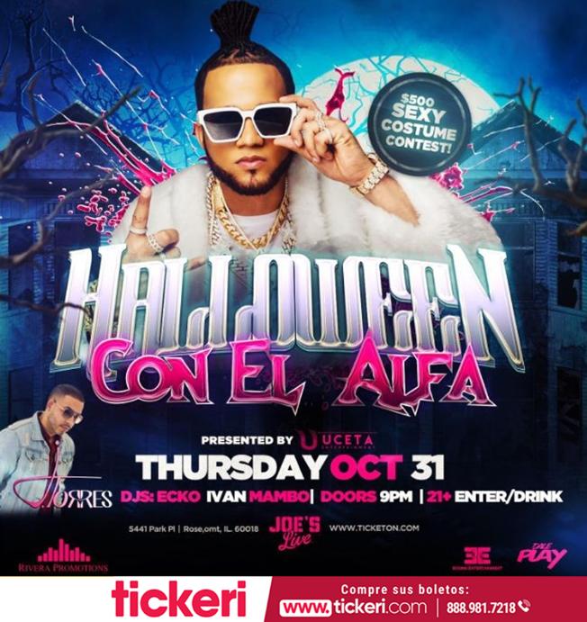 Flyer for El Alfa en Chicago