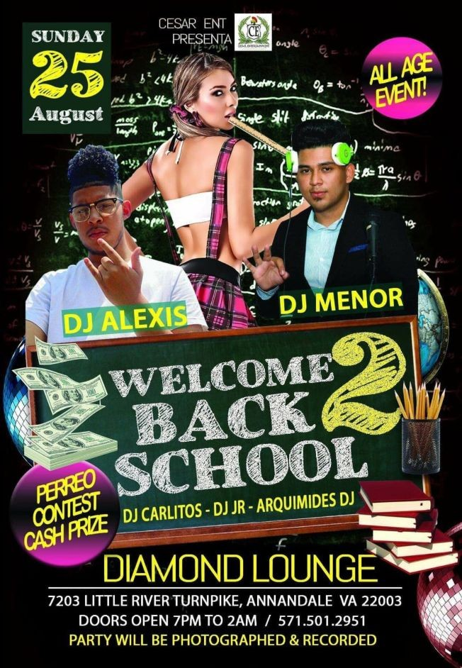 Flyer for Welcome Back 2 School in Annandale,VA