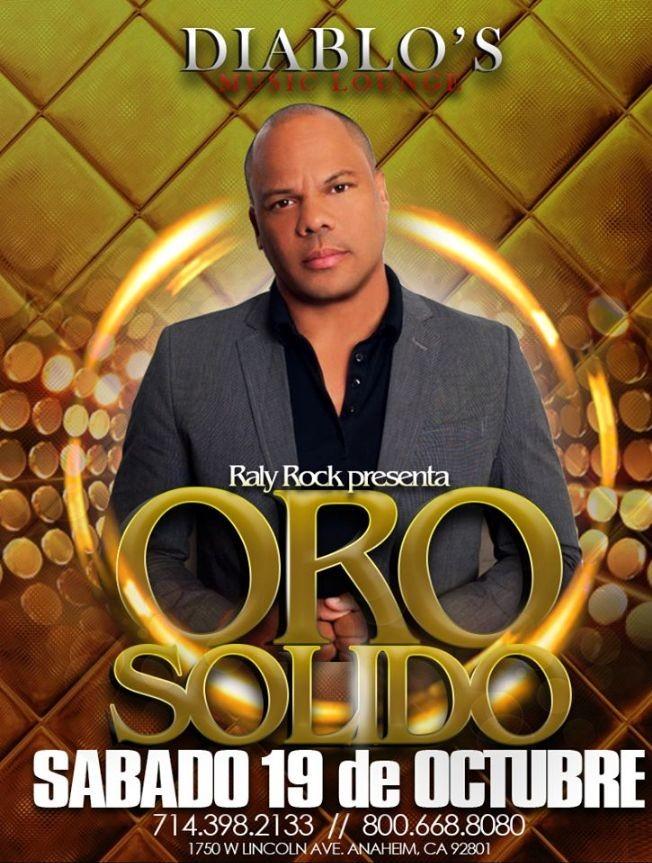 Flyer for ORO SOLIDO EN ANAHEIM