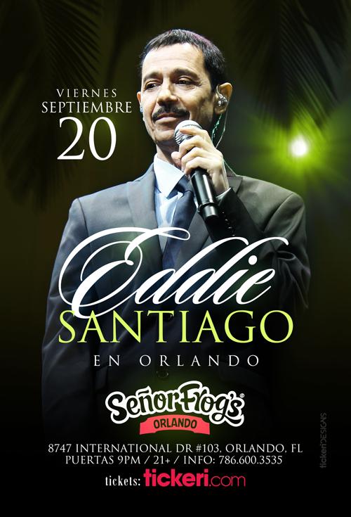 Flyer for EDDIE SANTIAGO EN ORLANDO