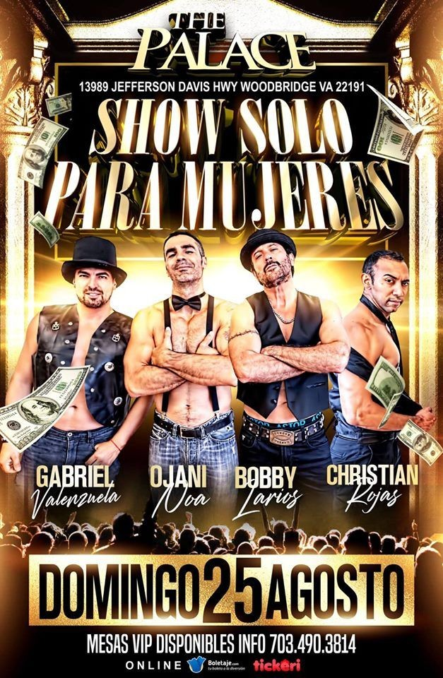 Flyer for Show Solo para Mujeres!!  @THE PALACE!!
