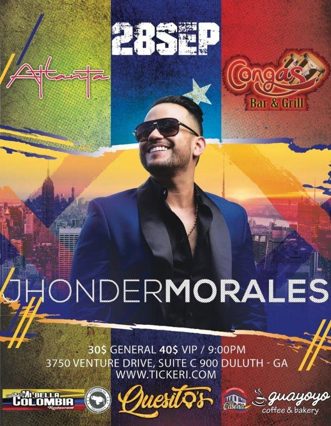 Flyer for Jhonder Morales en Duluth,GA