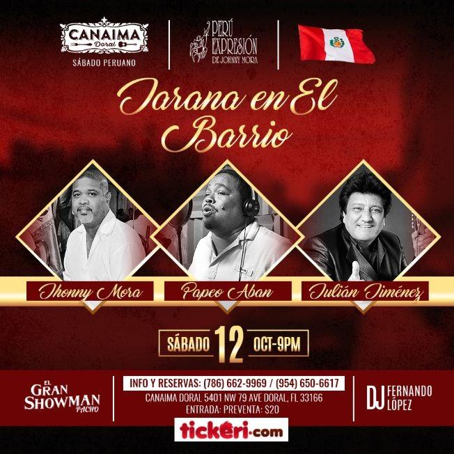"""Flyer for """"JARANA EN EL BARRIO"""""""