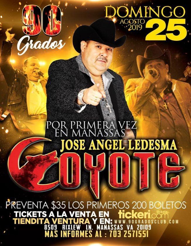 Flyer for Jose Angel Ledesma Coyote en Manassas,Va