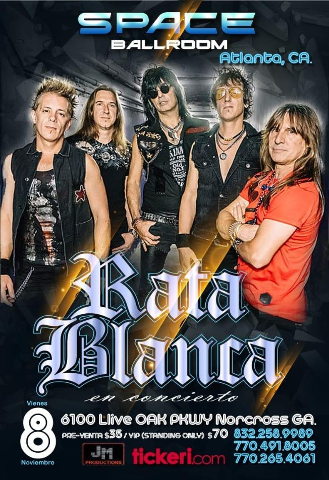 Flyer for Rata Blanca En Concierto En Norcross, GA