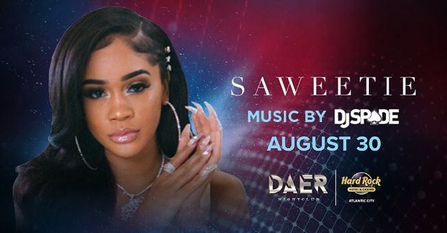 Flyer for Labor Day Weekend Saweetie Live At Daer Nightclub In Atlantic City