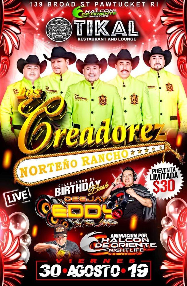 Flyer for Creadores Norteño Rancho En Pawtucket RI