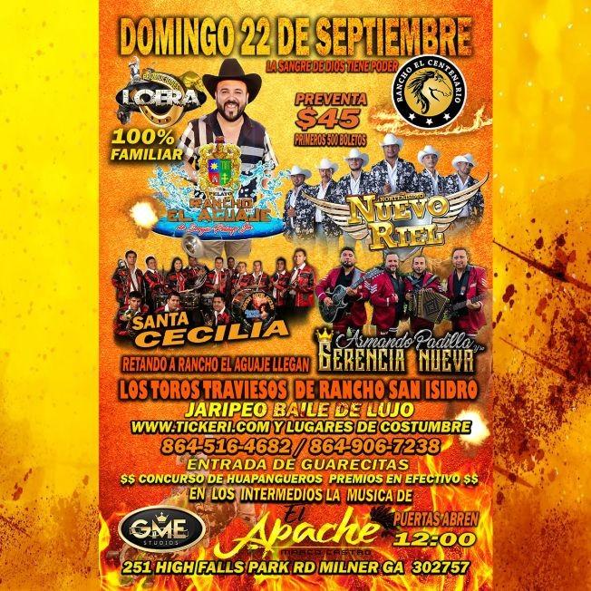 Flyer for Rancho el Aguaje en rancho El Centenario