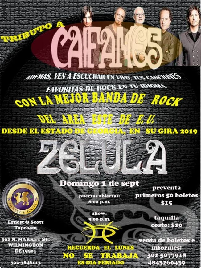 Flyer for Tributo A Caifanes - Zelula